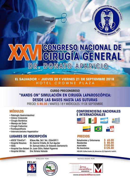 XXVI CONGRESO NACIONAL DE CIRUGIA  GENERAL 2018